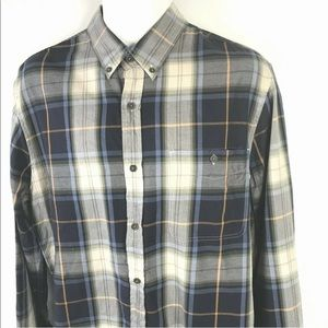 7 for All Mankind Plaid Button Down Shirt Large